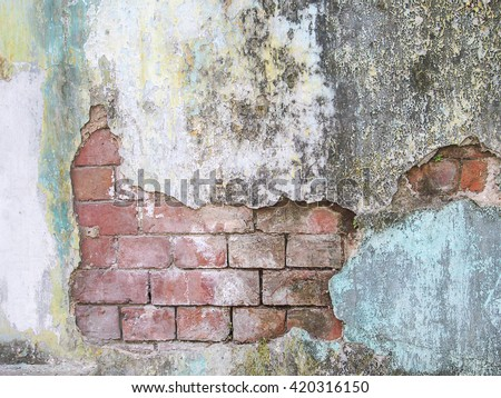 Background and texture of old wall in Myanmar - stock photo