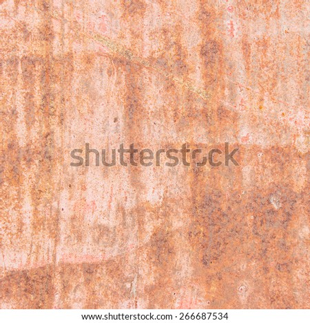 Background and texture of rusty on iron with vintage color and
