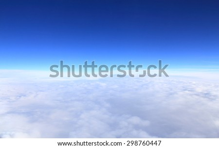 Background and texture with Clouds in the sky