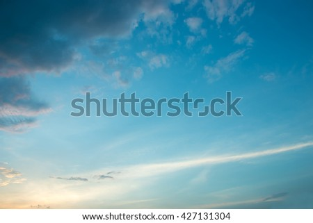 background and  textures of sky sunset cloudy in evening - stock photo