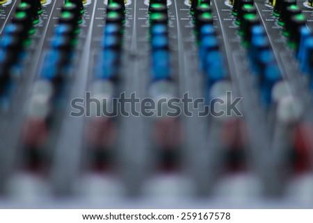 Background audio control. - stock photo