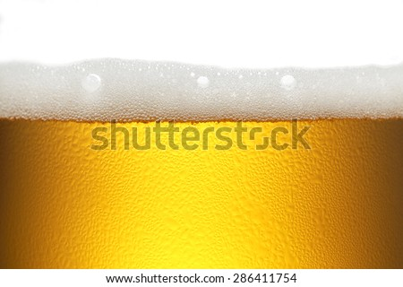 background beer with foam and bubbles - stock photo