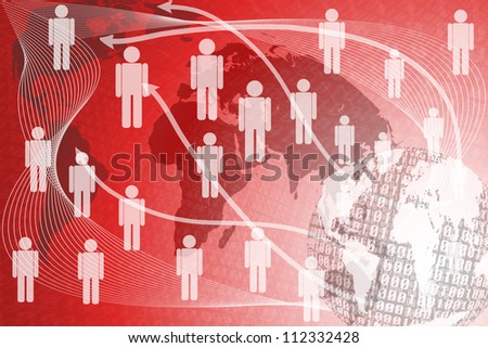 Background binary abstract human. - stock photo