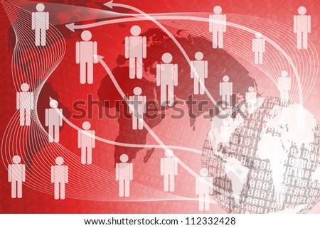 Background binary abstract human. - stock photo
