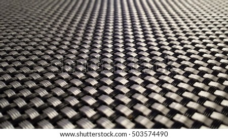 Background - black and silver braid of plastic