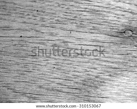 Background, black and white texture, old gray plank