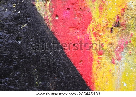 Background black red yellow
