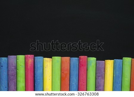 Background blackboard chalk. - stock photo