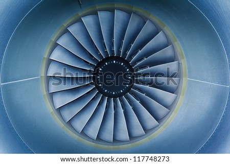background, blade turbine engine civil aircraft closeup