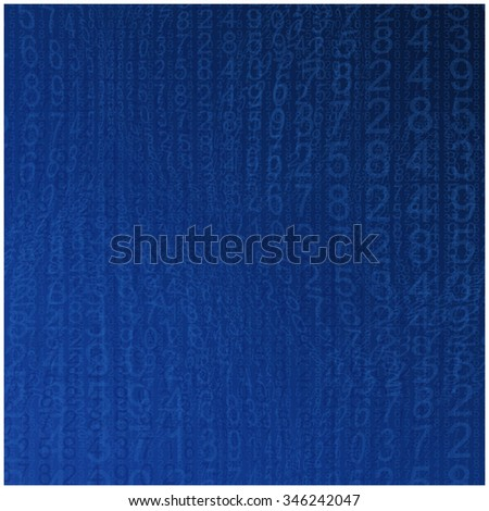 Background blue abstract figures pattern