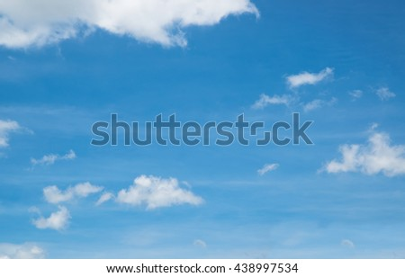 Background , Blue Sky in summer - stock photo