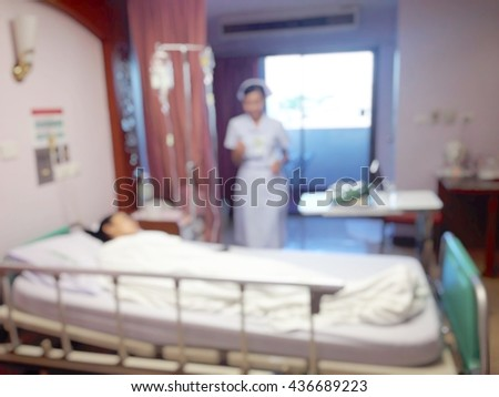 Background blur patients were treated in hospital by providing intravenous saline arm.