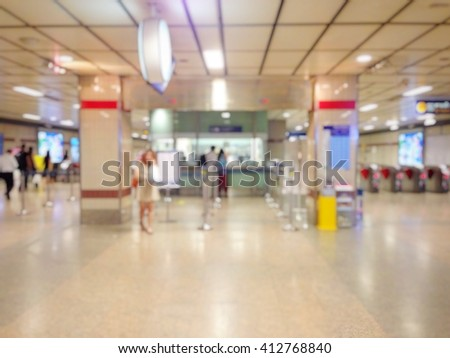 Background blur the train station. - stock photo