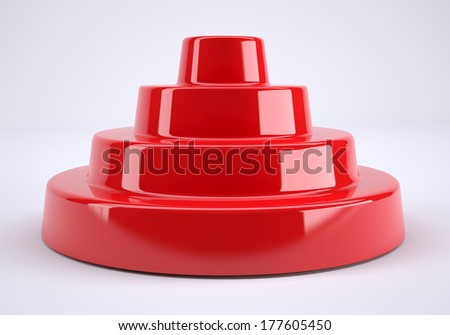 background bright and glossy made of abstract plastic red object