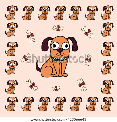 background bright dog , beige can be used for zoo- store or packing of goods for dogs