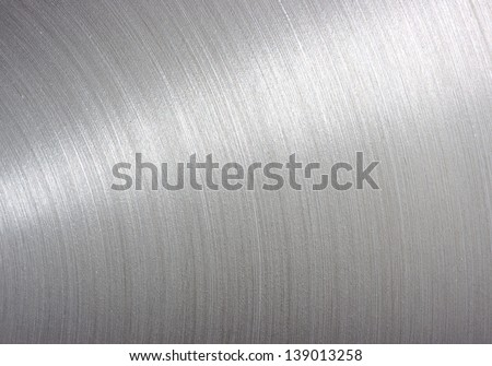 background brushed aluminum metallic plate - stock photo