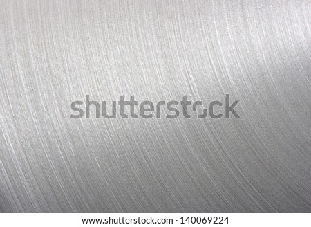 background brushed aluminum metallic plate - Metal texture - stock photo