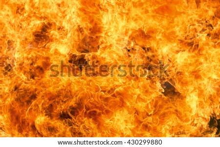 Background burning flame red yellow heat energy. - stock photo