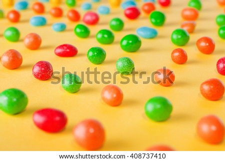 background candy jelly beans - stock photo