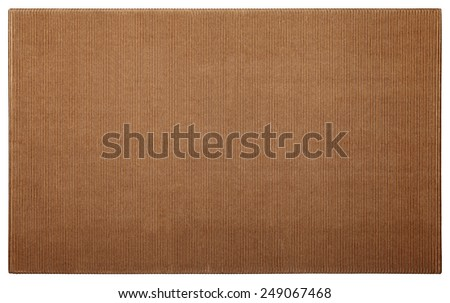 background cardboard texture brown striped - stock photo