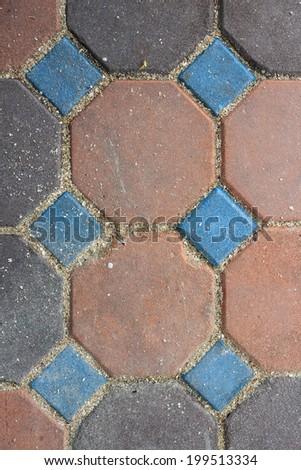 background cement walkway - stock photo