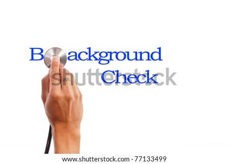 Background Check - stock photo