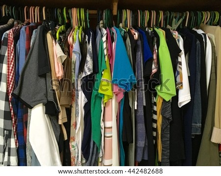 Background clothing in wardrobe
