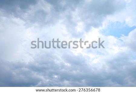 background- cloud sky before raining - stock photo
