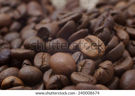 background coffee beans                    - stock photo