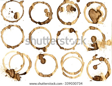 Background coffee ring. Real coffe. - stock photo