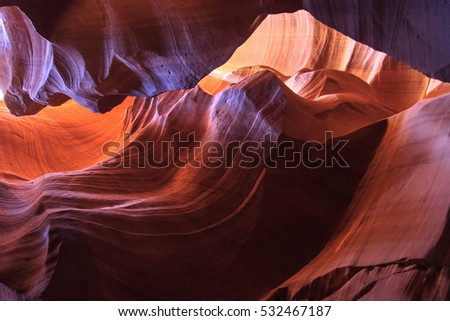 Background color and stone textures. Antelope Canyon. Page. Arizona