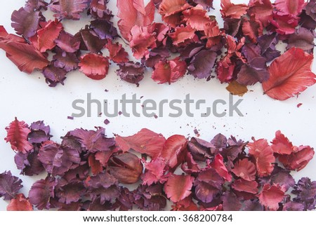 background colorful dried flowers and leaves