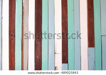 Background colorful wood wall.