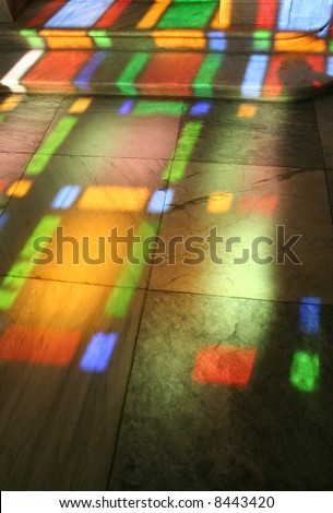 background coloured lead light refraction Iraclion Crete & Stained Glass Reflections Stock Images Royalty-Free Images ... azcodes.com