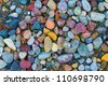 background composed of colorful pebbles - stock photo