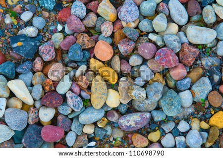 background composed of colorful pebbles