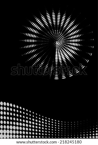 background composition, Web template (halftone) - stock photo