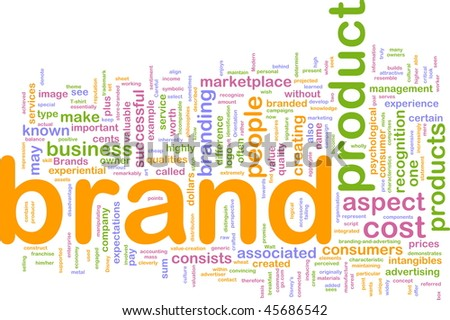 Background concept illustration of brand product marketing - stock photo