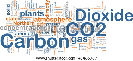 Background concept illustration of carbon dioxide co2 gas - stock photo