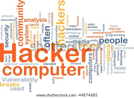 Background concept illustration of computer hacker attack