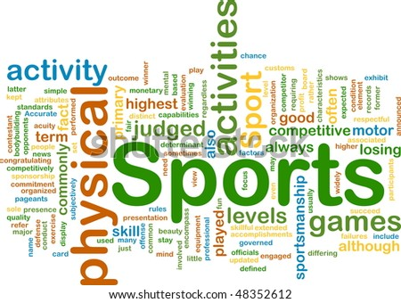 Background concept illustration of sports physical activities - stock photo
