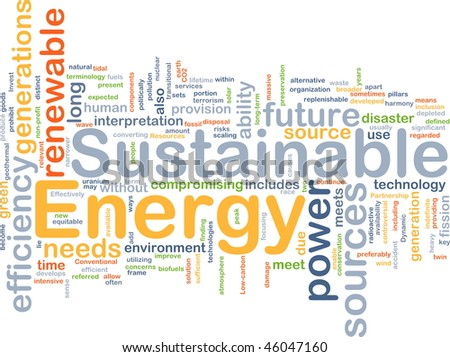 Background concept illustration of sustainable energy power - stock photo