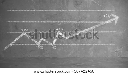 Background concept of a statistics trend - stock photo