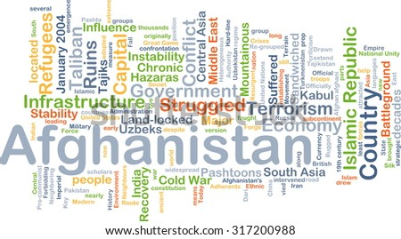 Background concept wordcloud illustration of Afghanistan