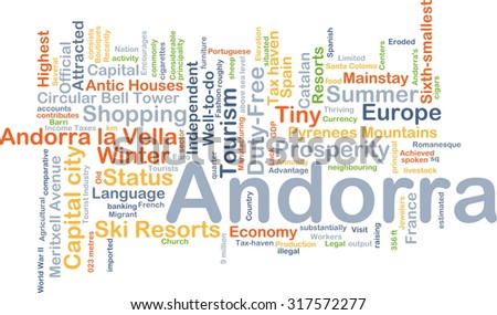 Background concept wordcloud illustration of Andorra