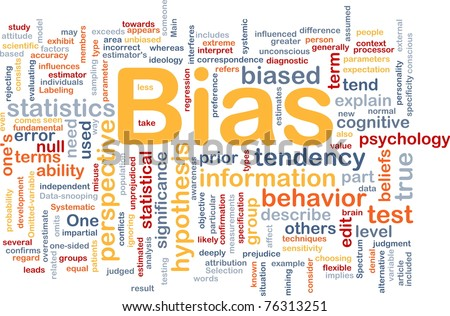 Background concept wordcloud illustration of bias - stock photo