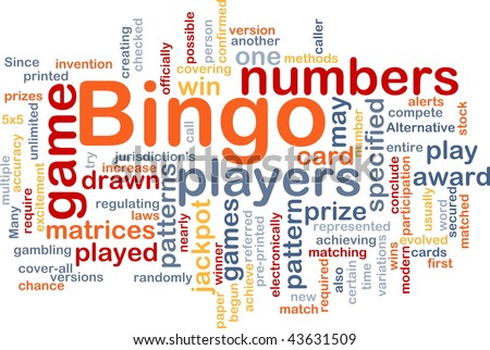 Background concept wordcloud illustration of bingo game pattern