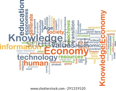 Background concept wordcloud illustration of economy knowledge