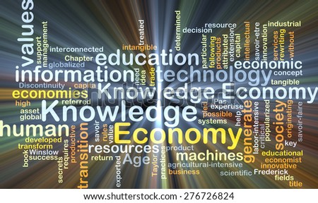 Background concept wordcloud illustration of economy knowledge glowing light - stock photo