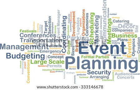 Background concept wordcloud illustration of event planning - stock photo